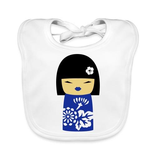 Motif Poupée Japonaise 3 - Bavoir bio Bébé