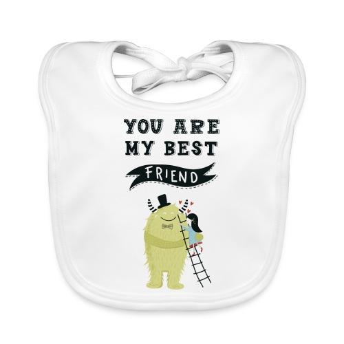 Du bist mein bester Freund 1 - Baby Bio-Lätzchen