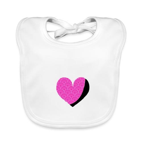 Herz rosa - Baby Bio-Lätzchen