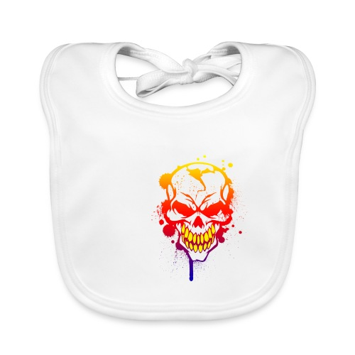 skull - Baby Bio-Lätzchen