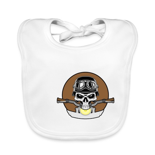 rider skull2 - Baby Bio-Lätzchen