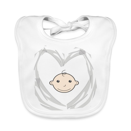 Heart and Baby head - Bio-slabbetje voor baby's
