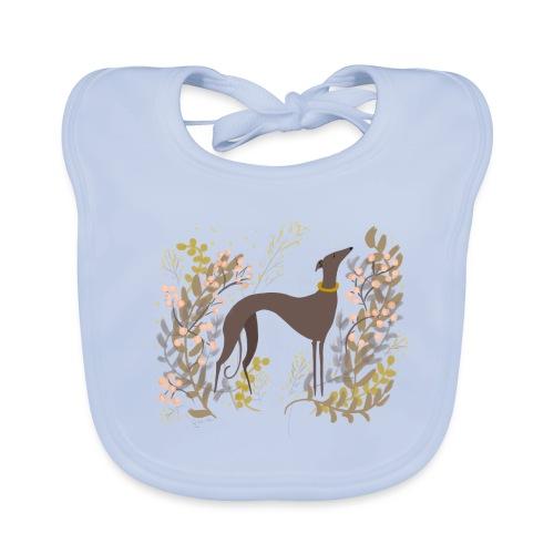 Windhund im Herbst - Baby Bio-Lätzchen
