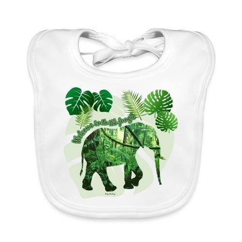 Dschungel - Elefant - Loxodonta cyclotis - Baby Bio-Lätzchen
