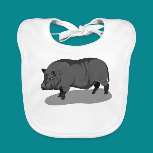 Potbelly Pig - Bavaglino ecologico per neonato
