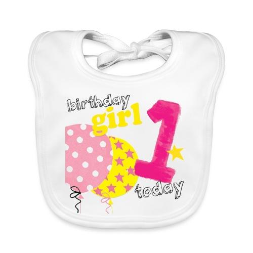 1 today birthday girl - Organic Baby Bibs