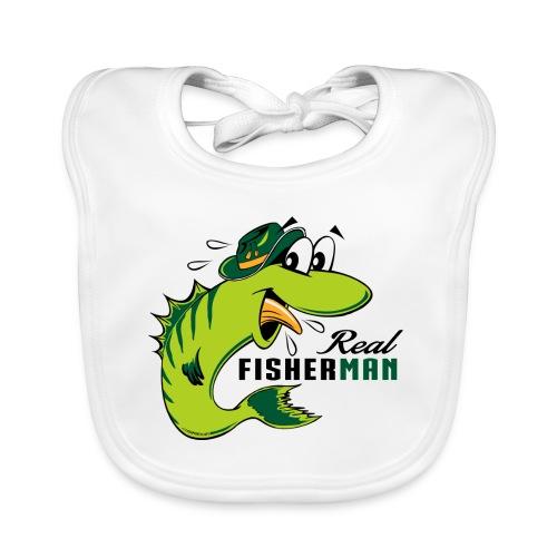 10-38 REAL FISHERMAN - TODELLINEN KALASTAJA - Vauvan ruokalappu