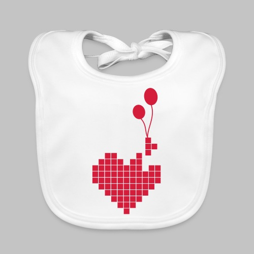 heart and balloons - Organic Baby Bibs