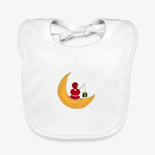 Santa sur un croissant de lune - Baby Organic Bib