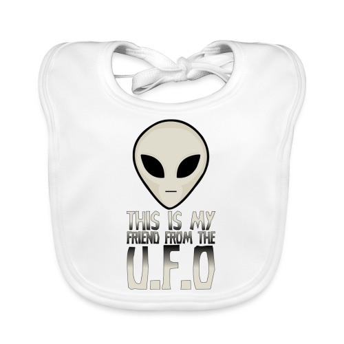 My Friend From The UFO - Baby Organic Bib