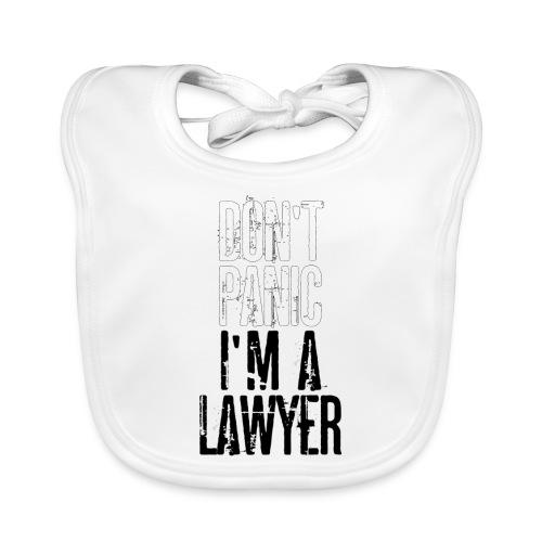 Dont Panic I.m a Lawyer - T-Shirt men per Avvocato - Baby Organic Bib