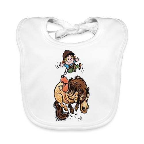 Thelwell Reiter Mit Gurt Und Buckelndes Pony - Baby Bio-Lätzchen
