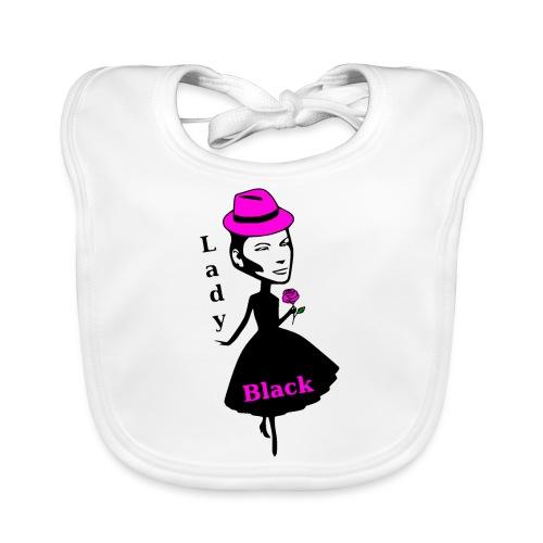 Lady Black Pink - Baby Bio-Lätzchen