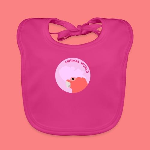 minimal world logo - Bavaglino ecologico per neonato