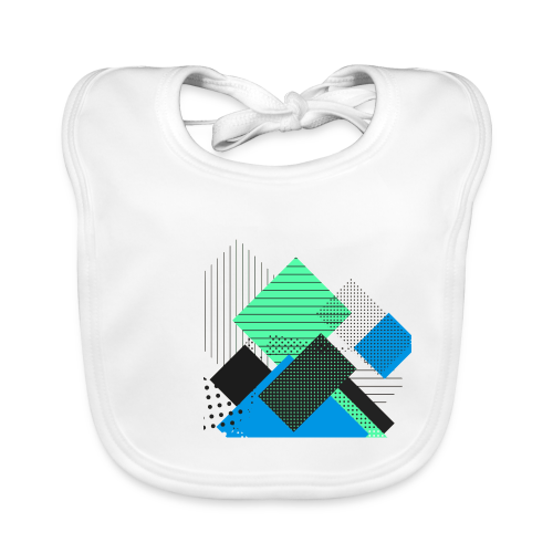 Abstract rectangles pastel - Baby Organic Bib