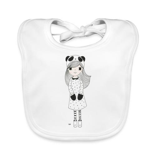 panda meisje - Bio-slabbetje voor baby's