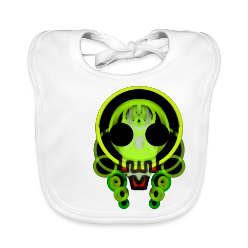dead skull of loops of green light - Baby Organic Bib