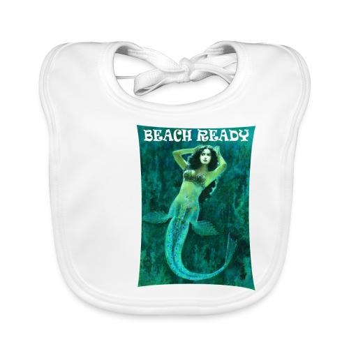 Vintage Pin-up Beach Ready Mermaid - Baby Organic Bib