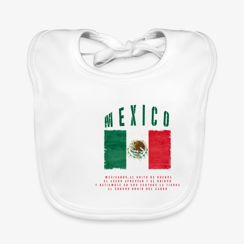 Mexican Flag Bandera Mexico - Baby Bio-Lätzchen