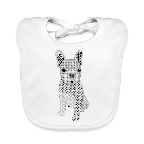 Bulldog puppy patroon - Bio-slabbetje voor baby's