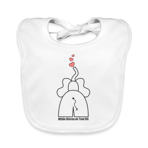 Slabbetje - olifant - Bio-slabbetje voor baby's