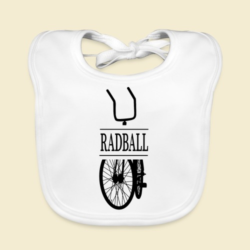 Radball | Retro Black - Baby Bio-Lätzchen