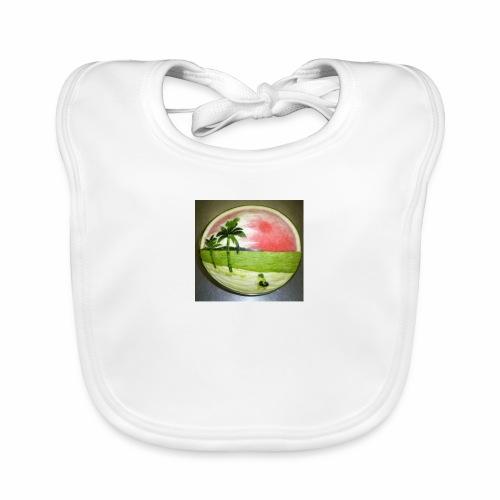 melon view - Baby Organic Bib