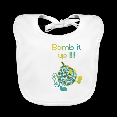 Bomb It Up : Yellow Power !!! - Bavoir bio Bébé