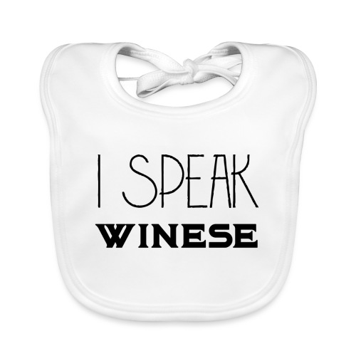 I speak WINEse - wine fan gift idea - Baby Organic Bib