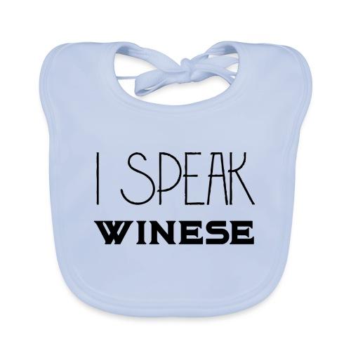 I speak WINEse - wine fan gift idea - Baby Organic Bib