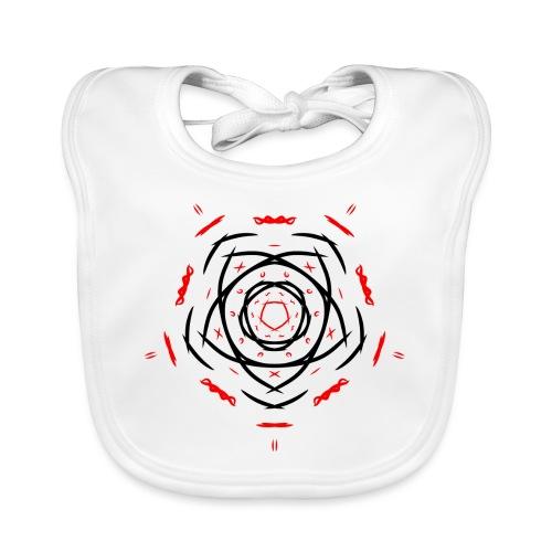 Symbol - Babero de algodón orgánico para bebés