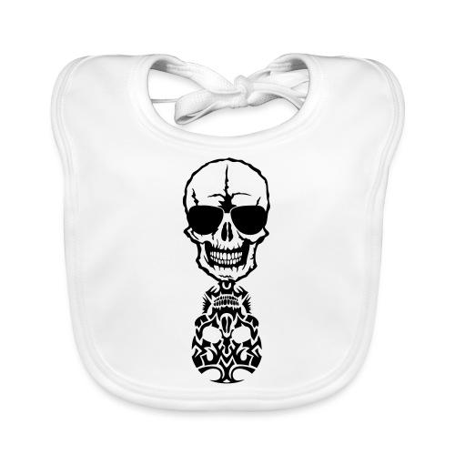 tete mort skull tribal reflet dead death - Bavoir bio Bébé