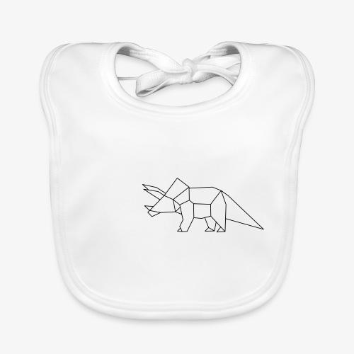 Dino Triceratops geometrisch - Baby Bio-Lätzchen