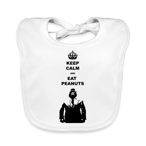 Keep calm eat pindas - Bio-slabbetje voor baby's
