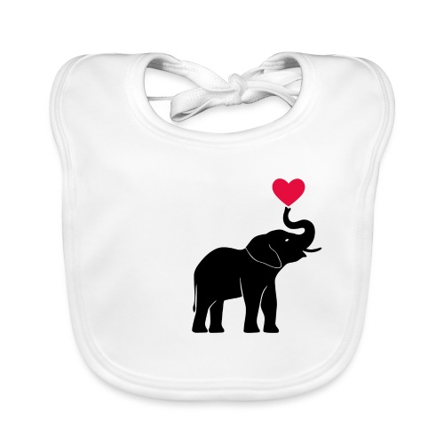 Love Elephants - Baby Organic Bib