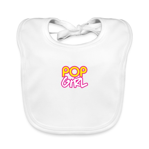 Pop Girl logo - Baby Organic Bib