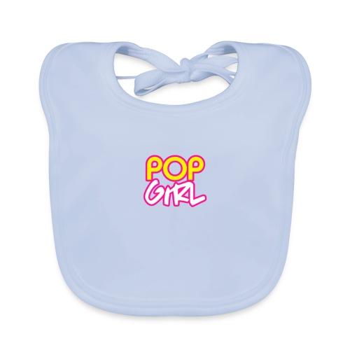 Pop Girl logo - Baby Organic Bib