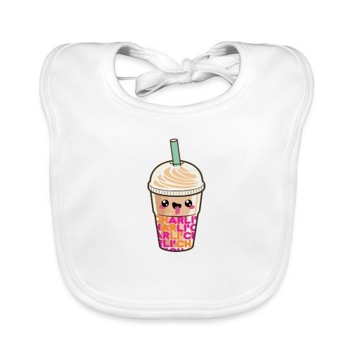 00411 Iced Coffee Charli Damelio - Babero de algodón orgánico para bebés