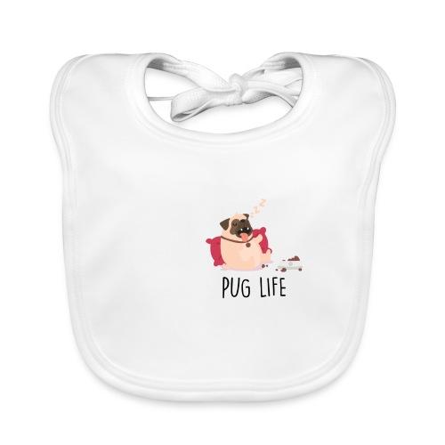 PUG LIFE Hunde Haustiere - Baby Bio-Lätzchen