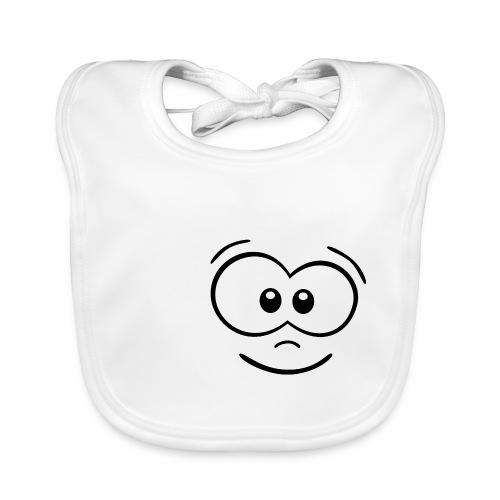 Gesicht fröhlich - Baby Bio-Lätzchen
