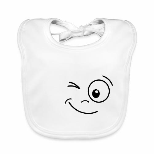 Gesicht zwinkern - Baby Bio-Lätzchen