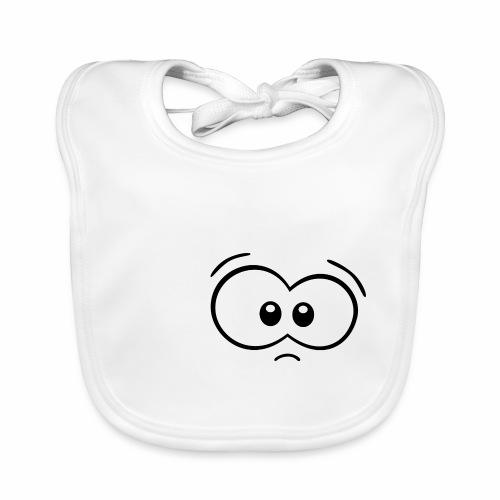 Gesicht ohne Mund - Baby Bio-Lätzchen