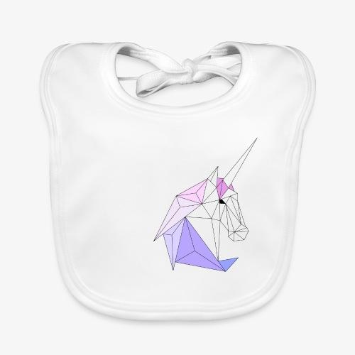 Einhorn geometrie unicorn - Baby Bio-Lätzchen