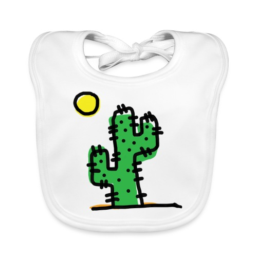 Cactus single - Bavaglino ecologico per neonato