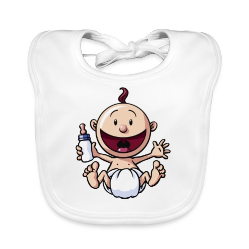 Das Baby lacht. - Baby Bio-Lätzchen