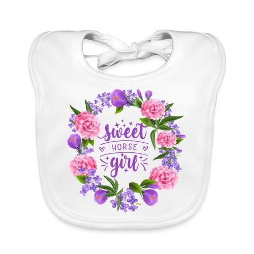 Sweet Horse Girl - Baby Bio-Lätzchen