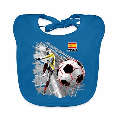 FP22F 02 SPAIN FOOTBALL - Vauvan luomuruokalappu