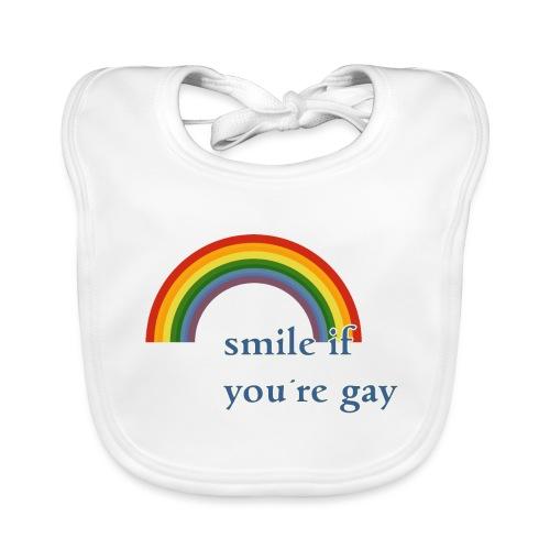 Lächle wenn du schwul bist | Vintage | LGBT |Pride - Baby Bio-Lätzchen