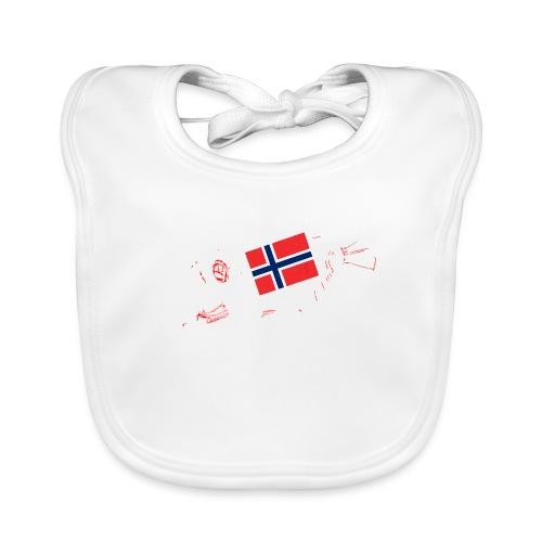 Norwegen Flagge - Baby Bio-Lätzchen