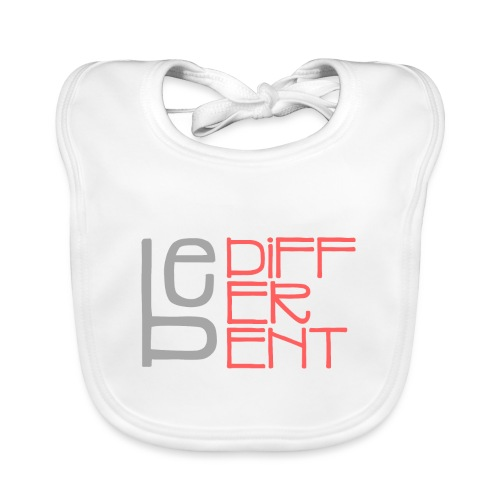 Be different - Fun Spruch Statement Sprüche Design - Baby Bio-Lätzchen